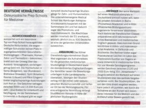 Bericht über Studimed im Manager Magazin.